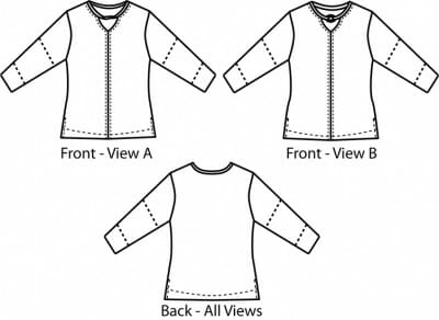 Catalina Tee Front and Back Views
