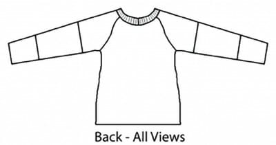 Raglan Top Back View
