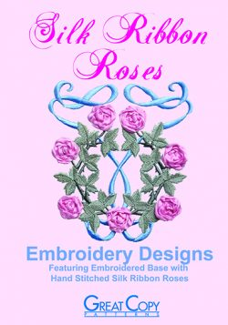 Silk Ribbon Roses Cover