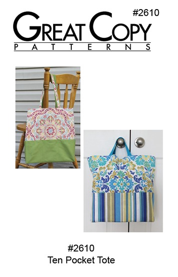 Ten Pocket Tote Pattern Cover