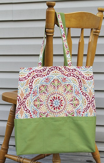 Ten Pocket Tote with Long Handle