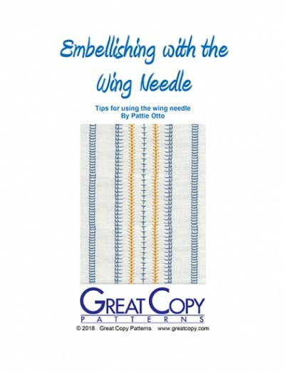 Embellishing with the Wing Needle Booklet Cover